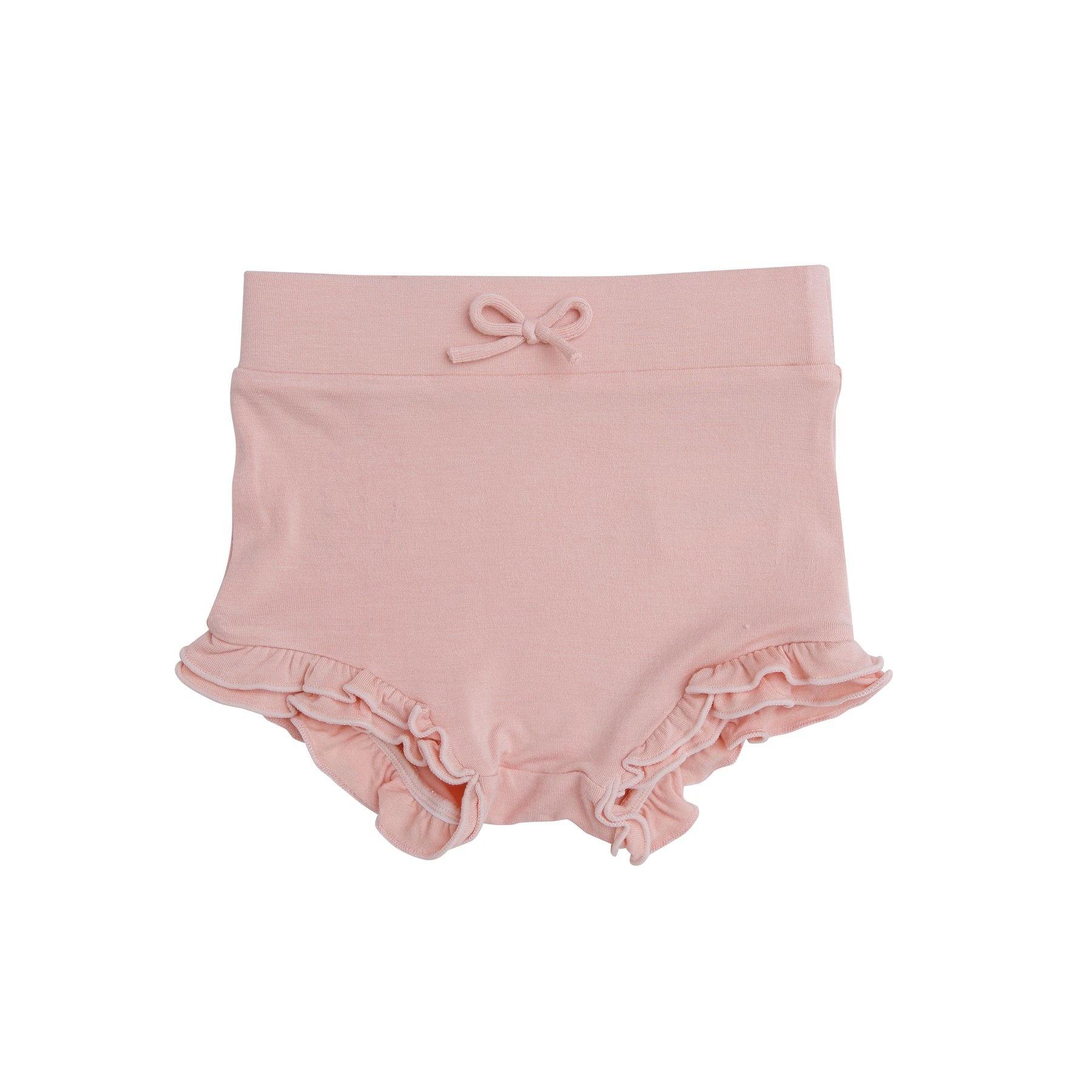 Angel Dear Modern Basics Bamboo High Waist Shorts - Dust Pale Pink