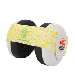 Em's 4 Kids Em's 4 Bubs Baby Ear Muffs Lemon Floral on White