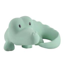 Tikiri Natural Rubber Teether, Rattle & Bath Toy - Alligator