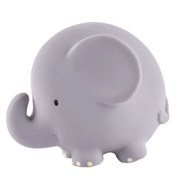 Tikiri Natural Rubber Teether, Rattle & Bath Toy - Elephant