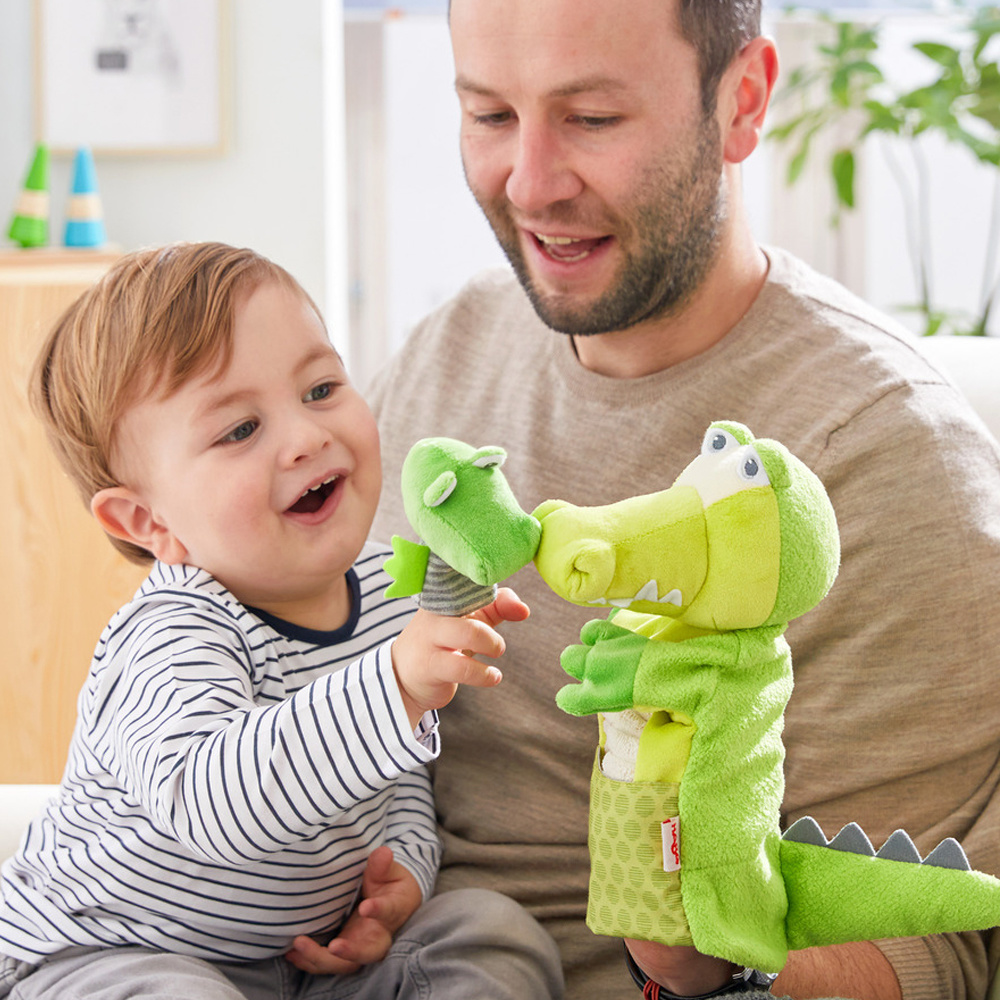 HABA Gator Glove Puppet With Baby Finger Puppet Set