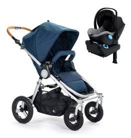 Bumbleride Bumbleride Era Maritime Blue Stroller + Clek Liing Car Seat Travel System (with free adaptor)