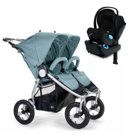 Bumbleride Bumbleride Indie Twin Sea Glass Stroller + Single Clek Liing Car Seat Travel System (with one free adaptor)