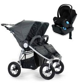 Bumbleride Bumbleride Indie Twin Dawn Grey Stroller + Single Clek Liing Car Seat Travel System (with one free adaptor)