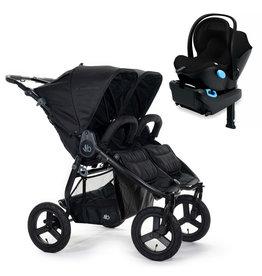 Bumbleride Bumbleride Indie Twin Matte Black Stroller + Single Clek Liing Car Seat Travel System (with one free adaptor)
