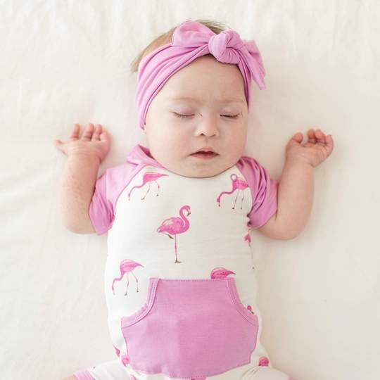 Kyte Baby Kyte Bamboo Short All in Flamingo