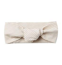 Quincy Mae Quincy Mae Ribbed Baby Turban - Ash Stripe