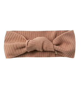 Quincy Mae Quincy Mae Ribbed Baby Turban - Terracotta