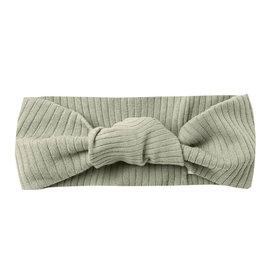 Quincy Mae Quincy Mae Ribbed Baby Turban - Sage
