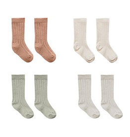 Quincy Mae Quincy Mae 4-Pack Socks - Terracotta/Natural/Sage/Ash