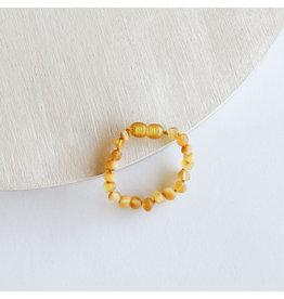 "Canyon Leaf Baltic Amber 5"" Bracelet (Raw) - Honey"
