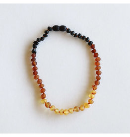 """Canyon Leaf Baltic Amber 11"""" Necklace (Raw) - Ombre"""