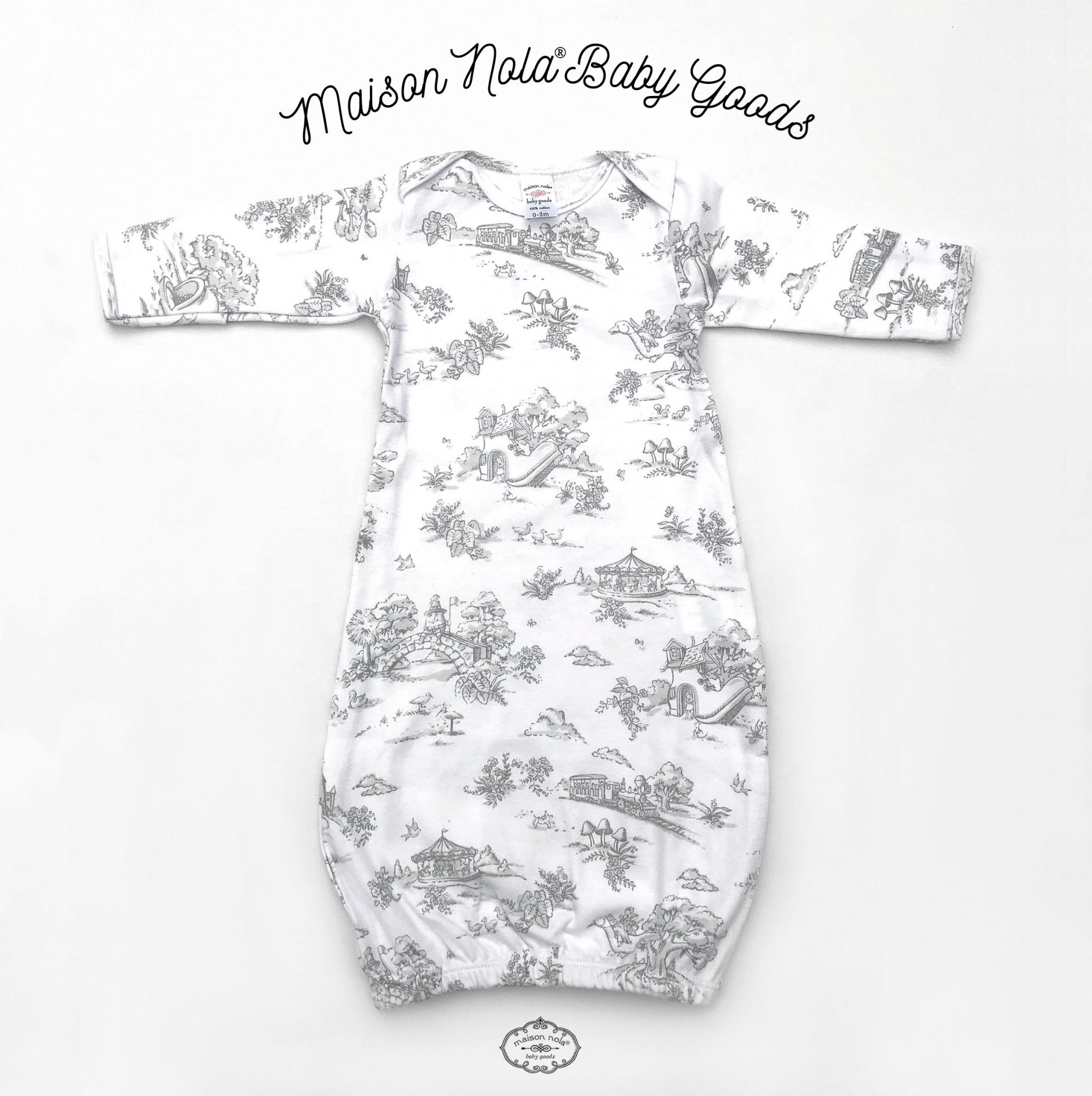 Maison Nola Maison Nola Storyland Toile Gown Grey