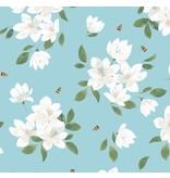 Angel Dear Blue Magnolia Bamboo Lounge Wear Set