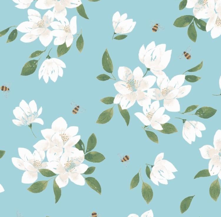 Angel Dear Blue Magnolia Bamboo Lounge Wear Set 3T