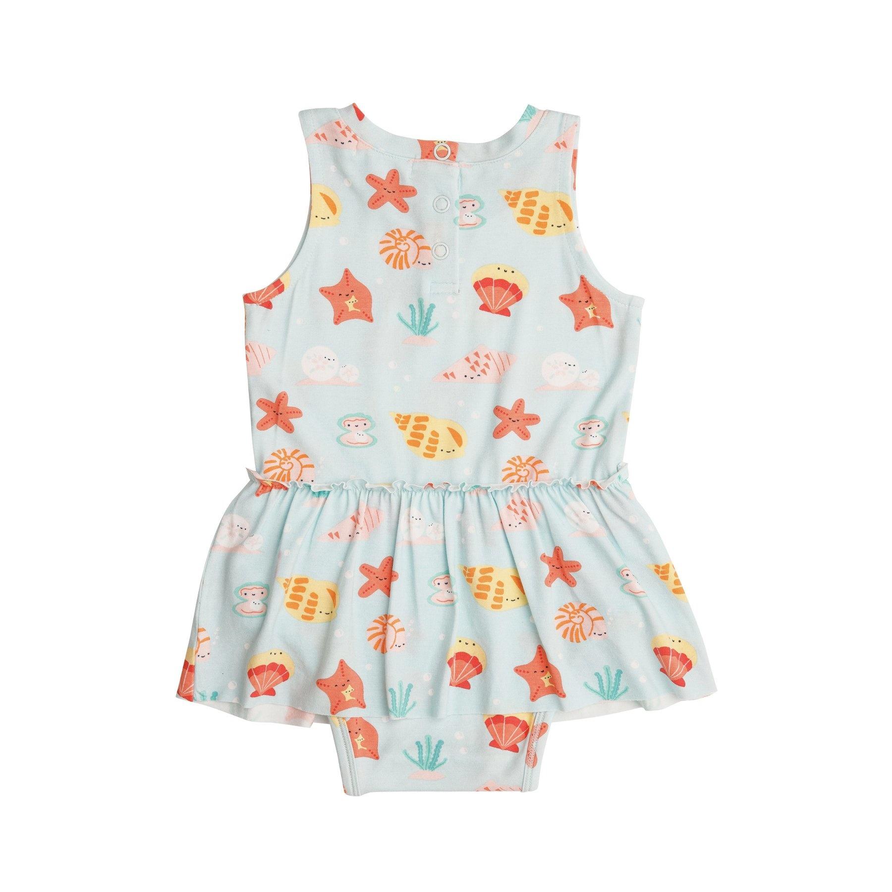 Angel Dear Happy Shells Bamboo Bodysuit with Skirt