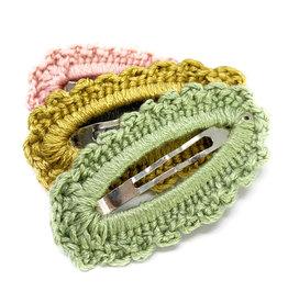 Baby Wisp 3pk Greta Snap Clip - Yellow Gold, Rose, Sage