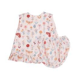 Angel Dear Butterfly Garden Muslin Ruffle Top and Shortie Set