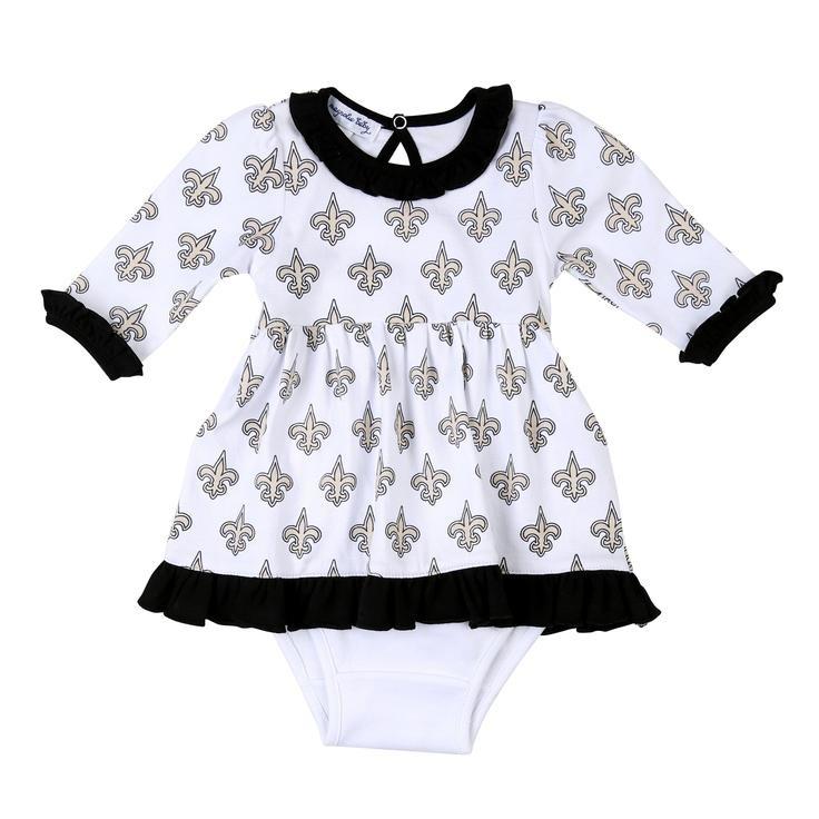 Magnolia Baby Black and Gold Long Sleeve Pima Dress Set - Newborn