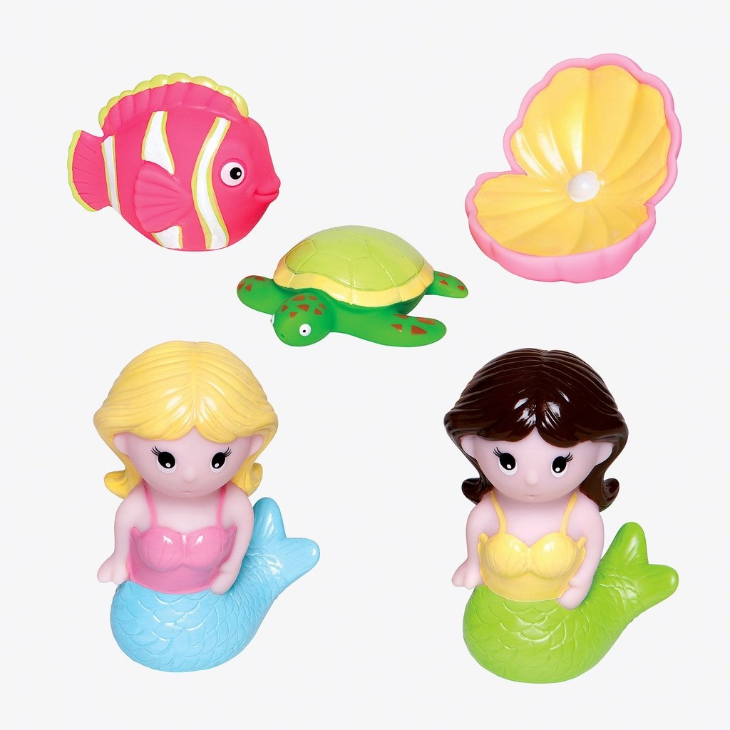 Elegant Baby Mermaid Party Squirtie Baby Bath Toys