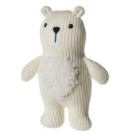 Mary Meyer Knitted Nursery Polar Bear Rattle