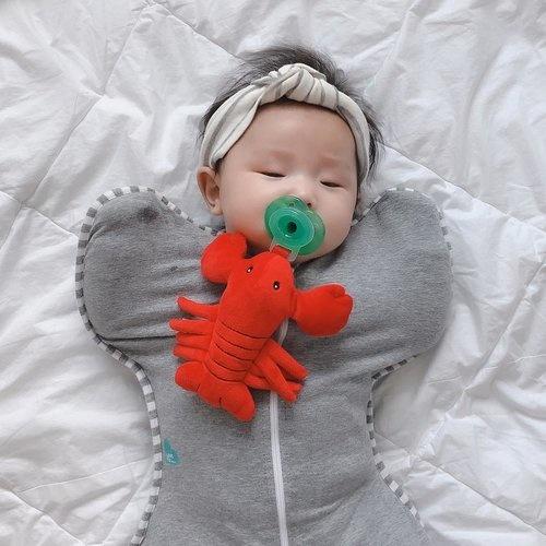 Nookums Charlie Crawfish Plush Paci Buddy Pacifier Holder