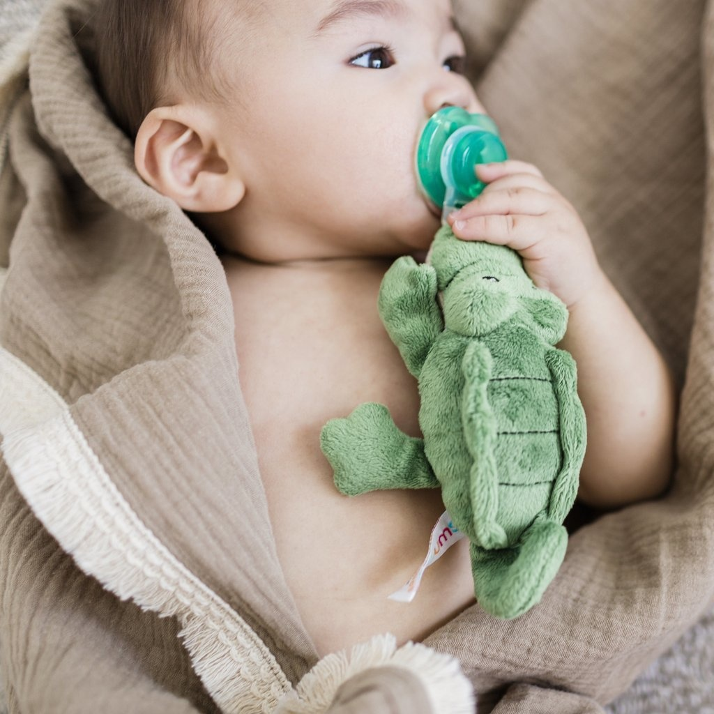 Nookums Alli Alligator Plush Paci Buddy Pacifier Holder