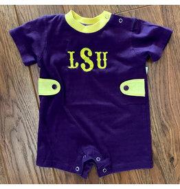 Lulu Bebe LSU Purple Knit Pima Shortall