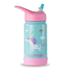 EcoVessel EcoVessel Frost 12 oz Stainless Steel Kids Flip Top Straw Bottle