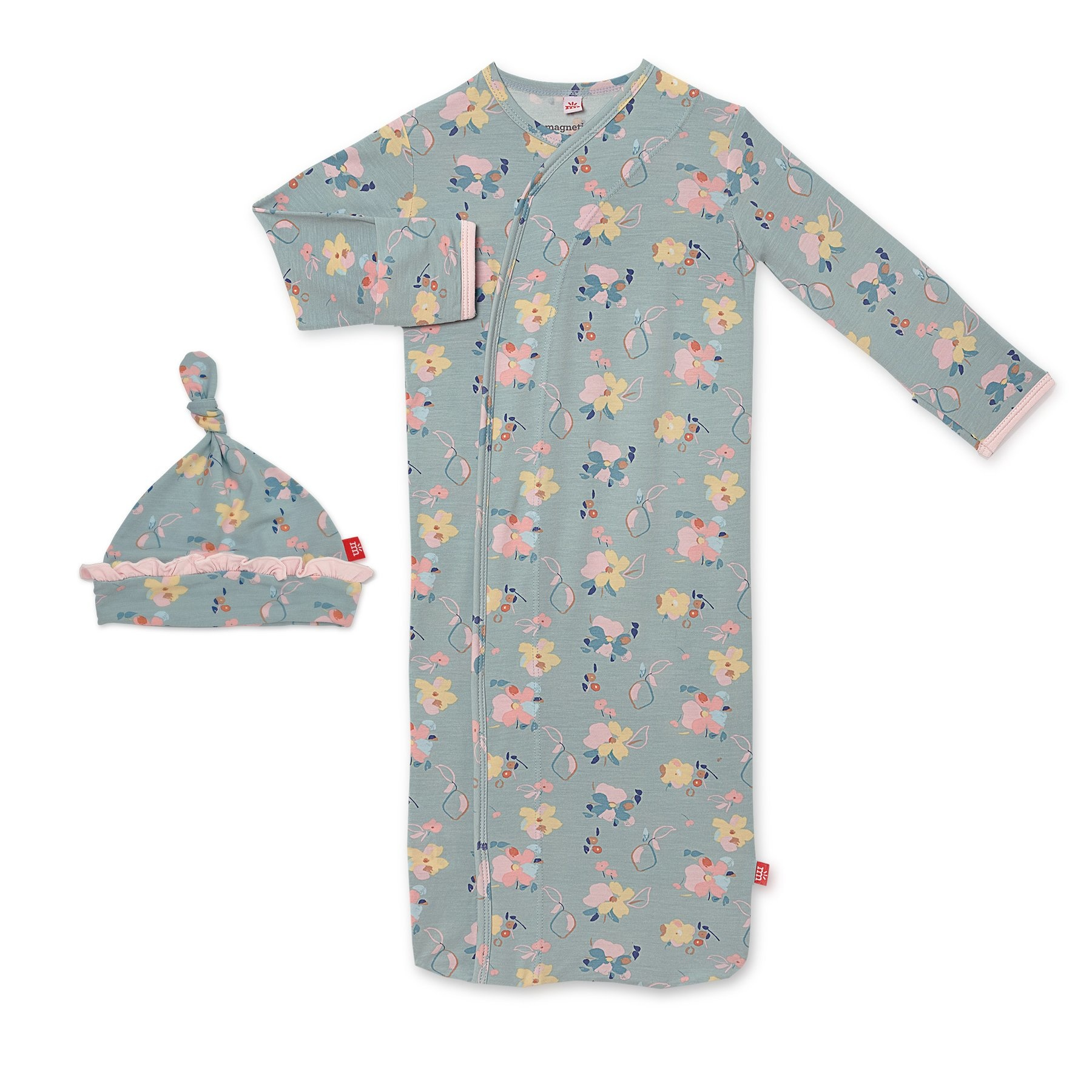 Magnetic Me Notting Hill Modal Magnetic Sack Gown & Hat Set (0-3 mo)