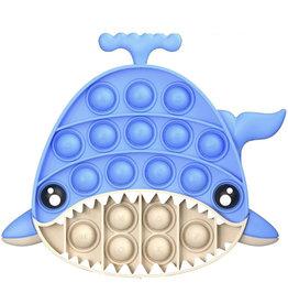Streamline Poptastic Silicone Fidget Popper Toy - Shark