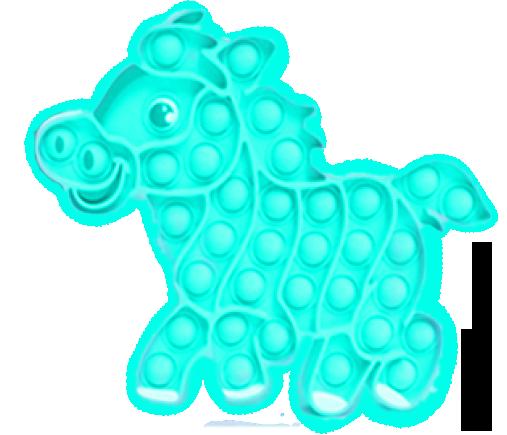 Streamline Poptastic Silicone Fidget Popper Toy - Horse