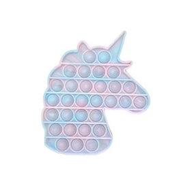 Streamline Poptastic Silicone Fidget Popper Toy - Unicorn (Glow in the Dark Rainbow)
