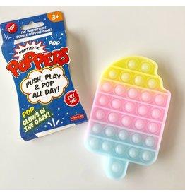 Streamline Poptastic Silicone Fidget Popper Toy - Popsicle (Glow in the Dark Rainbow)