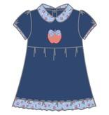 Magnolia Baby Fresh Picked Apple Pima Collared Toddler Dress