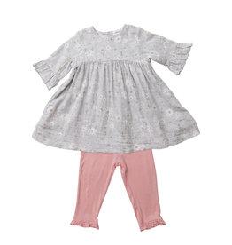 Angel Dear Sweet Daisies Muslin Bell Sleeve Dress with Bamboo Leggings