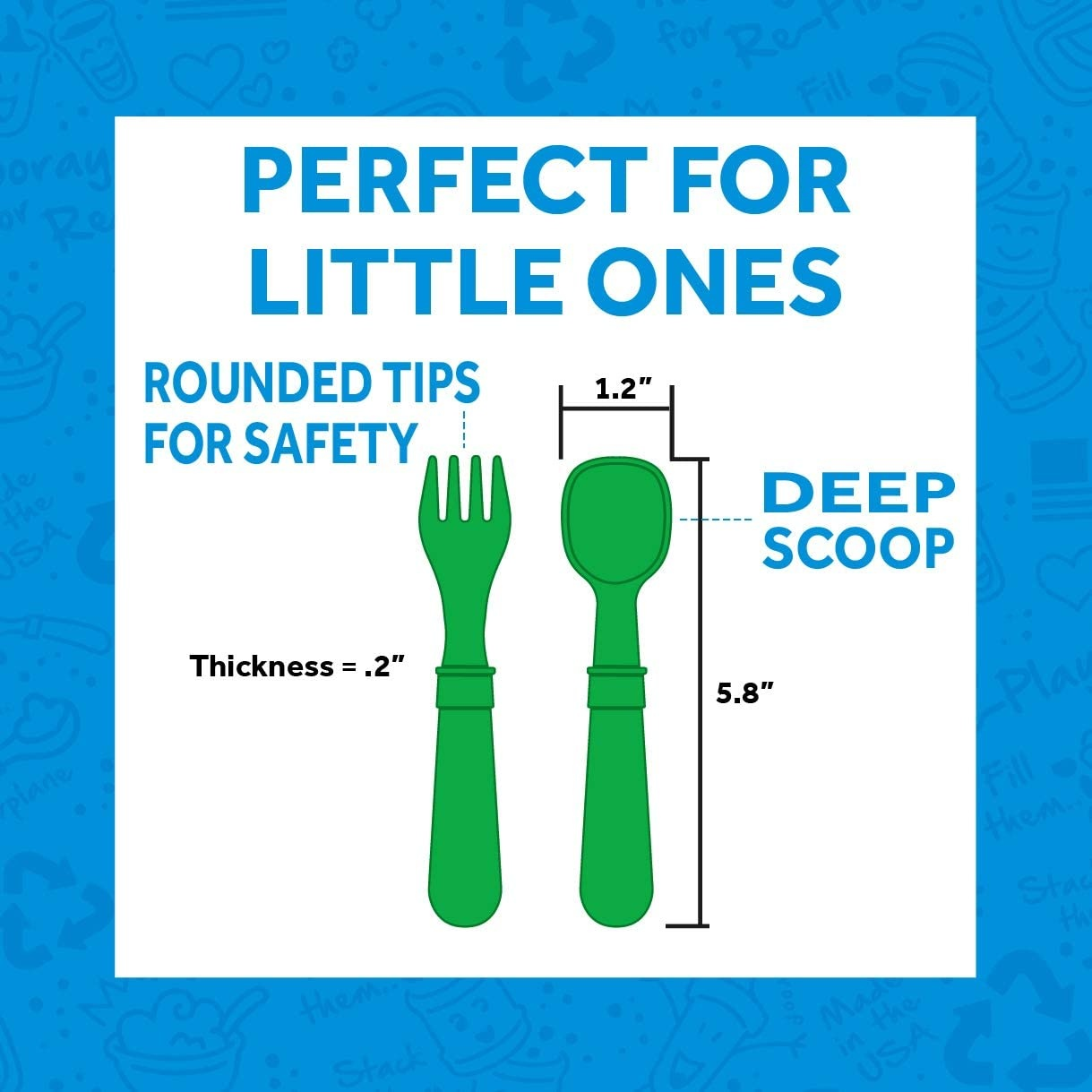 Re-Play Re-Play Spoon and Fork 4-Pack Set