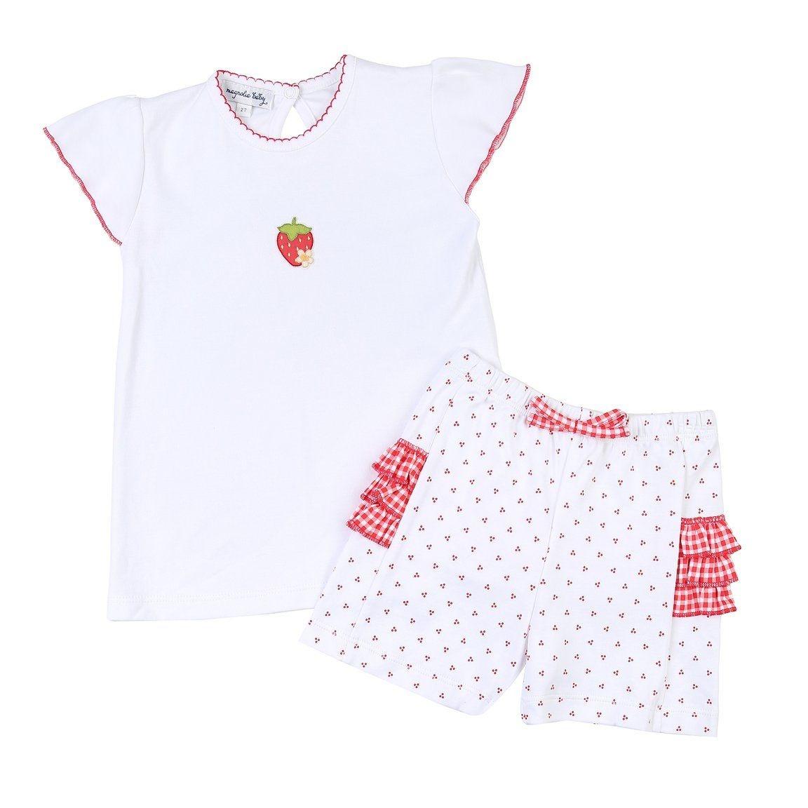 Magnolia Baby Fresh Strawberries Ruffle Flutter -