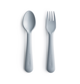 Mushie Toddler Fork and Spoon Set (BPA-Free) -