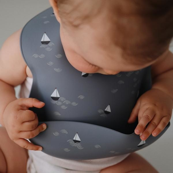 Mushie Silicone Adjustable Bucket Baby Bib by Mushie -