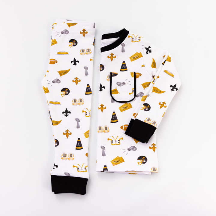 Nola Tawk Let's Geaux Saints Organic Cotton Pajamas
