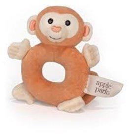 Apple Park Organic Soft Teething Plush Rattle & Toy