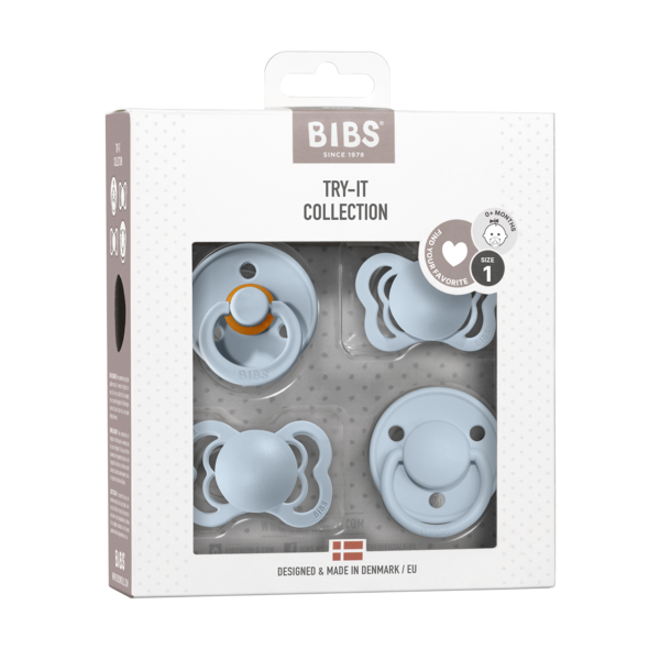BIBS BIBS Try-It Pacifier 4 pack Collection (Size 1)