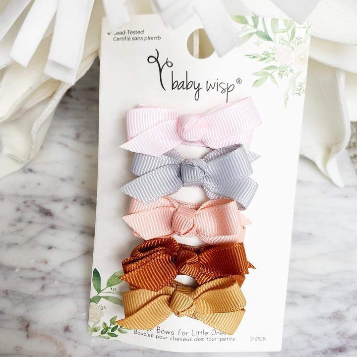 Baby Wisp Snap Clip 5 Piece Set - Bow Addict