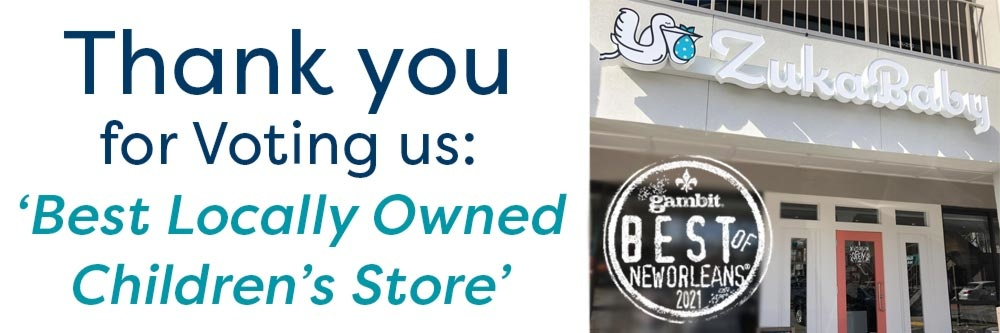 thank you for voting us Best Baby Store in New Orleans