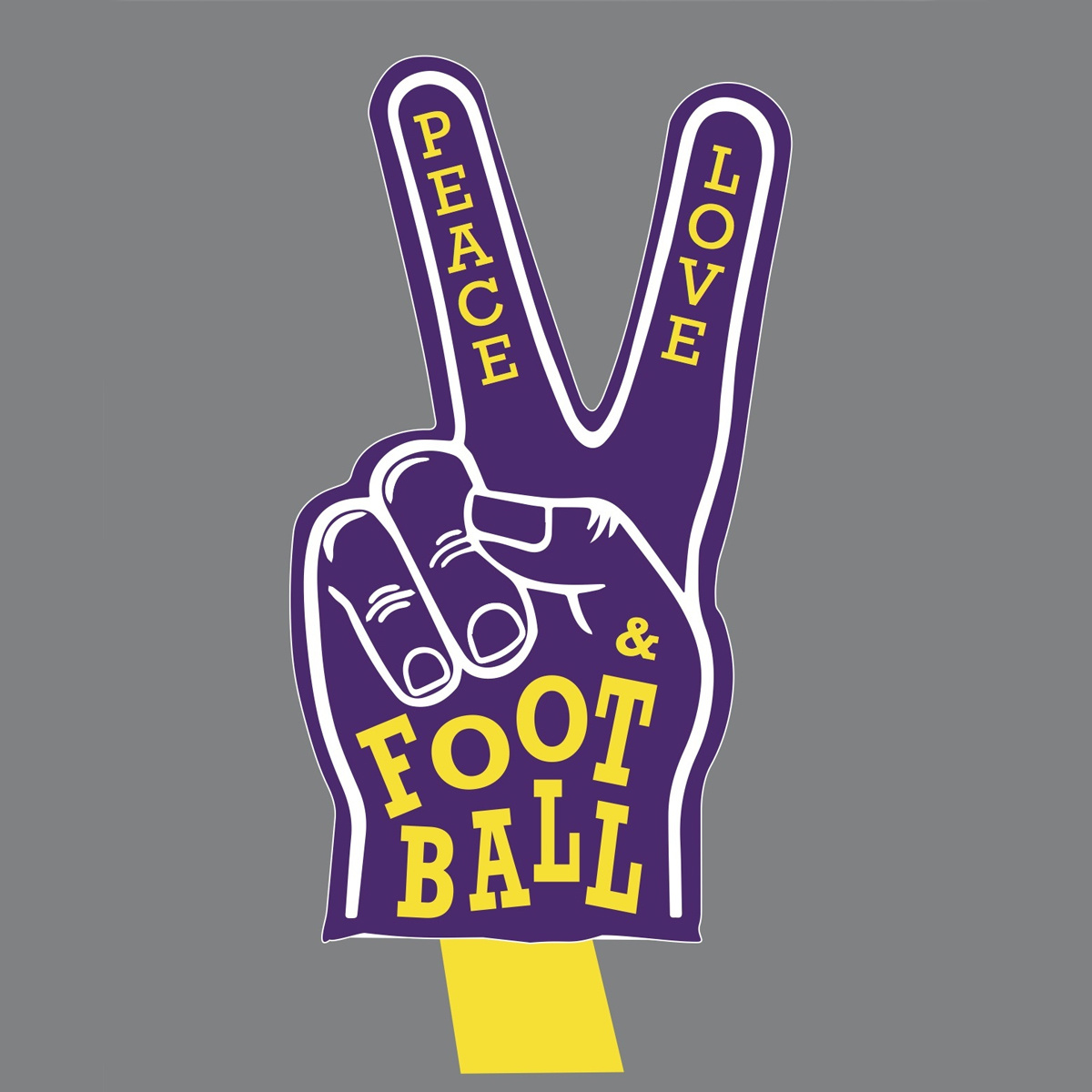 Two Sprouts Peace, Love & Football T-Shirt - Purple & Gold