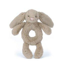 Jellycat Jellycat Bashful Beige Bunny Soft Ring Rattle