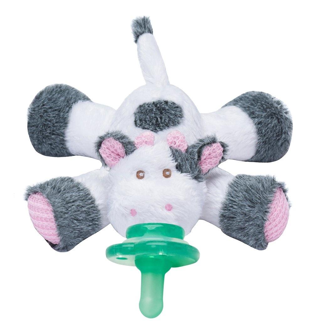 Nookums Cutsie Cow Plush Paci Buddy Pacifier Holder