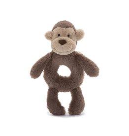Jellycat Jellycat Bashful Monkey Soft Ring Rattle