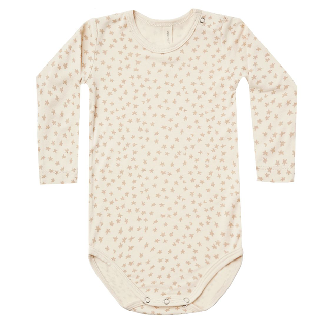 Quincy Mae Quincy Mae Scatter Bamboo Longsleeve Bodysuit